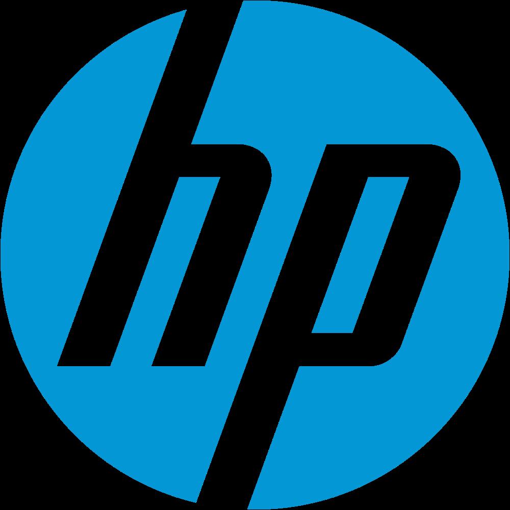 hp logo, hewlett packard logo