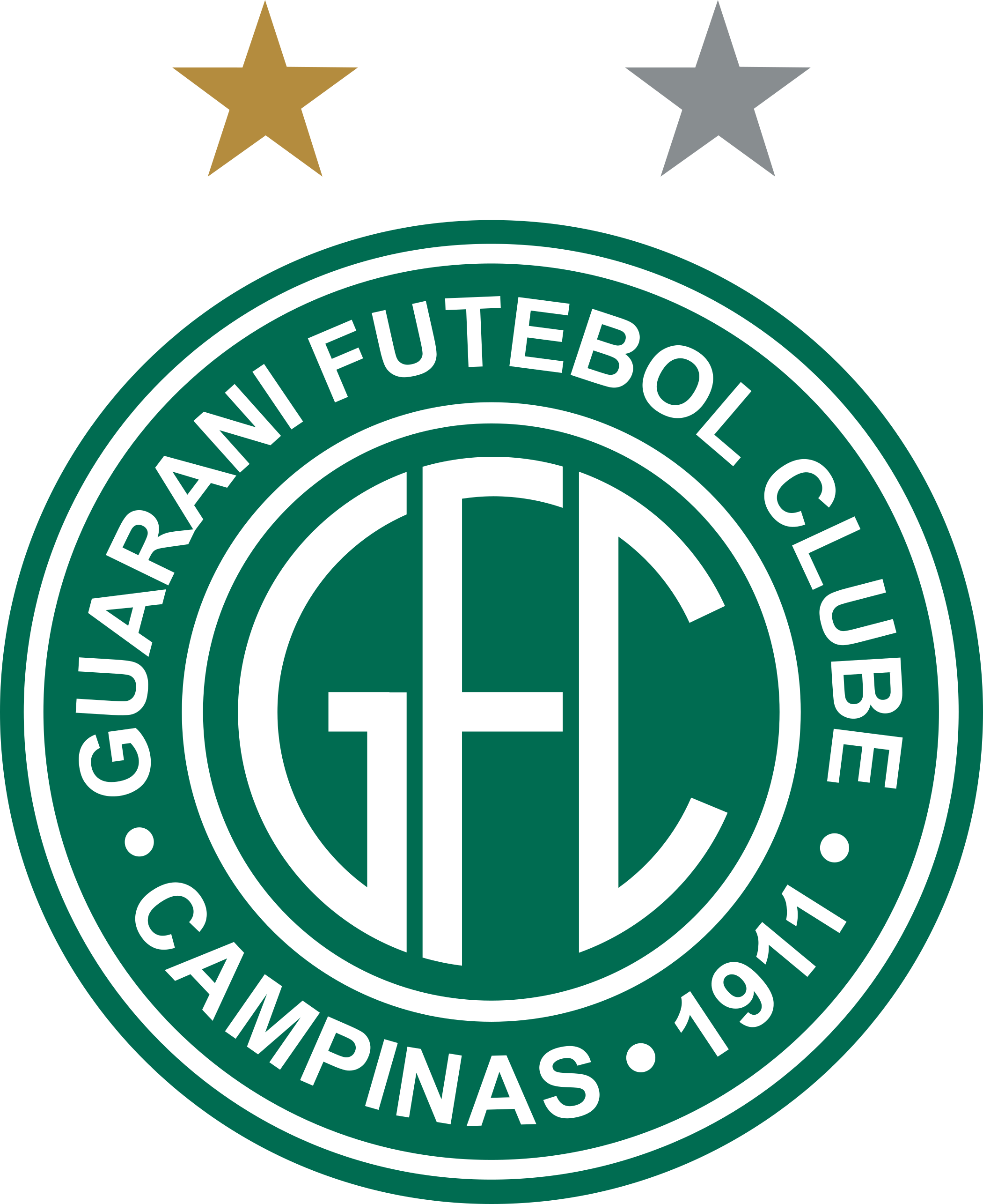 Guarani fc logo esudo 2 - Guarani FC Logo - Brasil