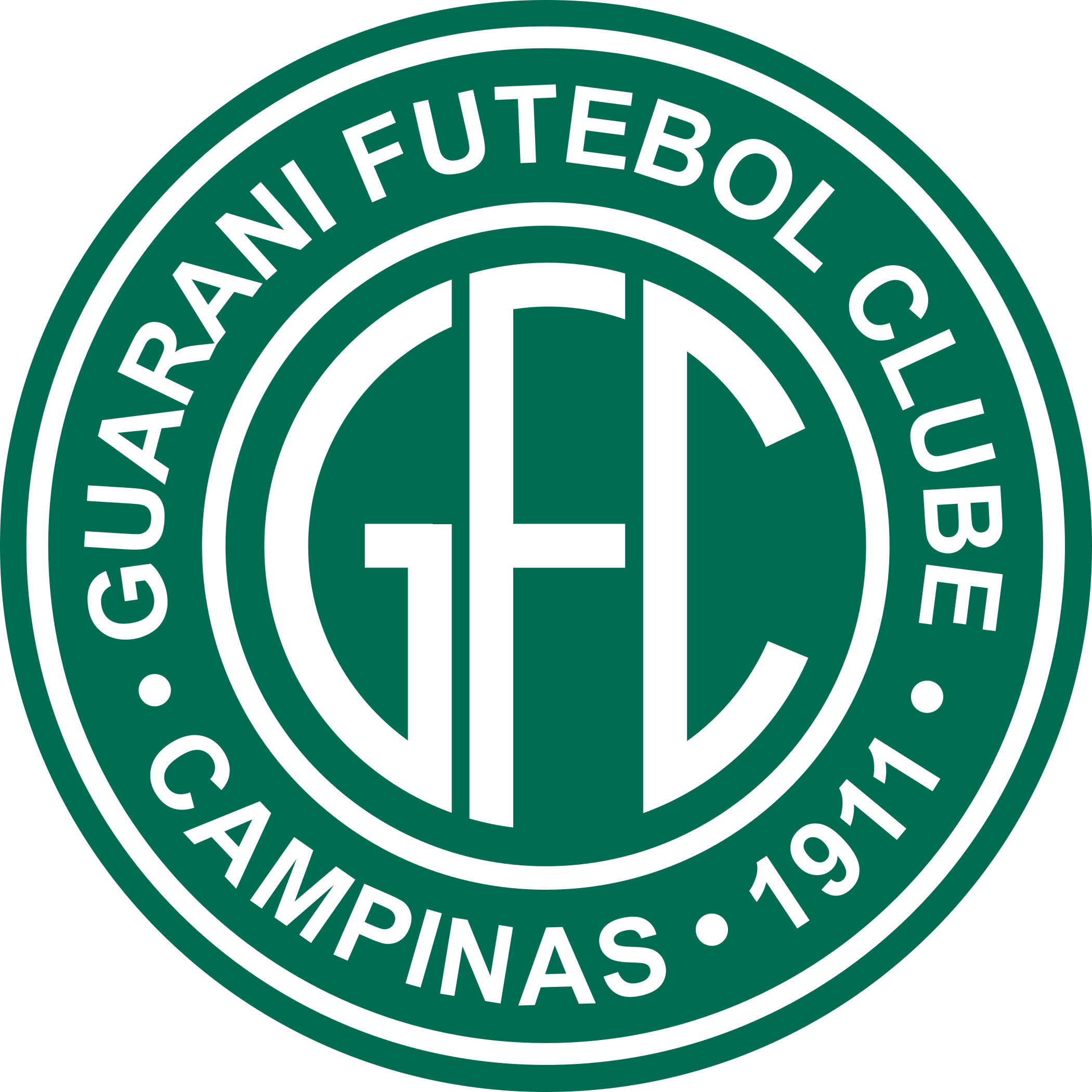 Guarani fc logo esudo 3 - Guarani FC Logo - Brasil