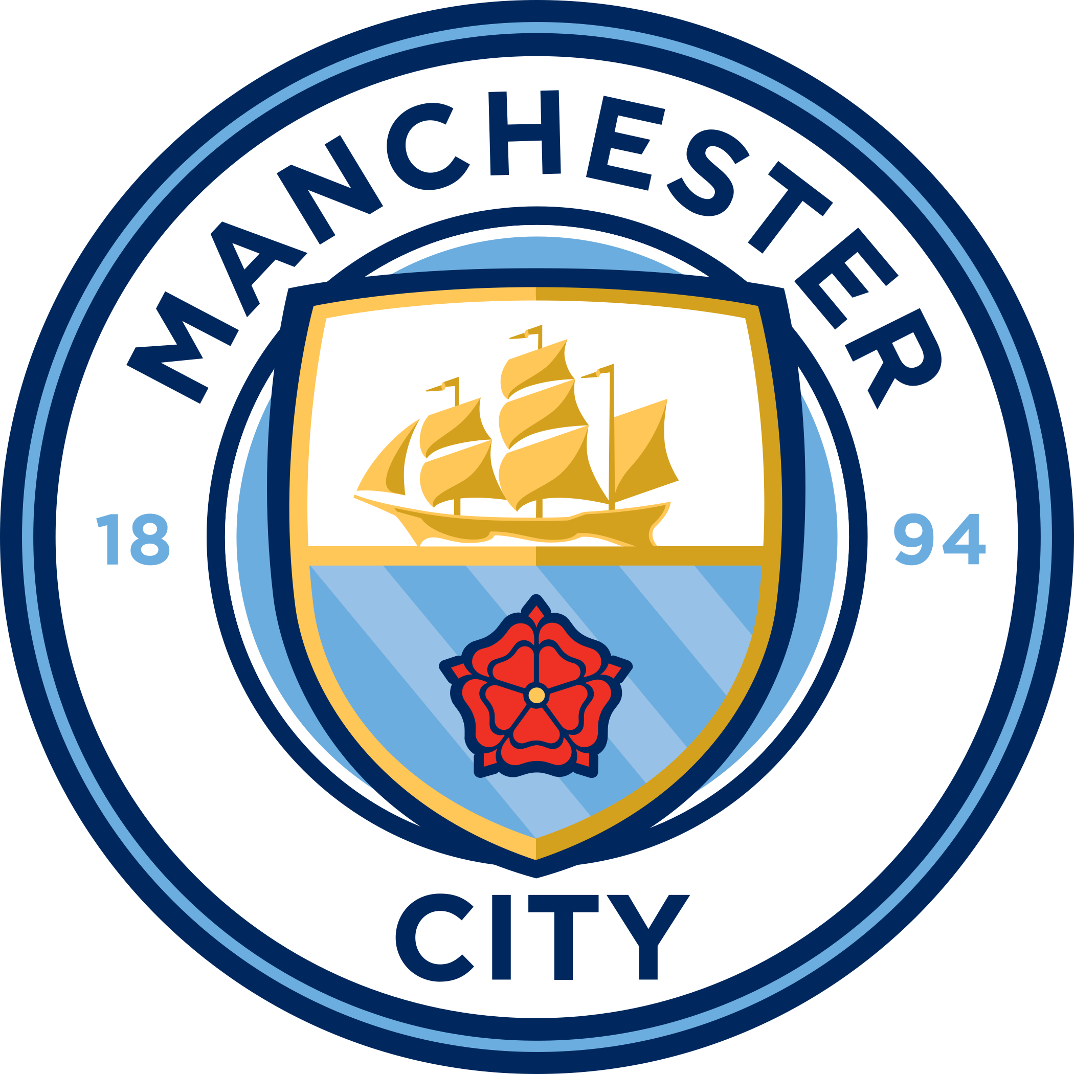 manchester city fc logo escudo badge 1 - Manchester City Logo - Manchester City Football Club Escudo