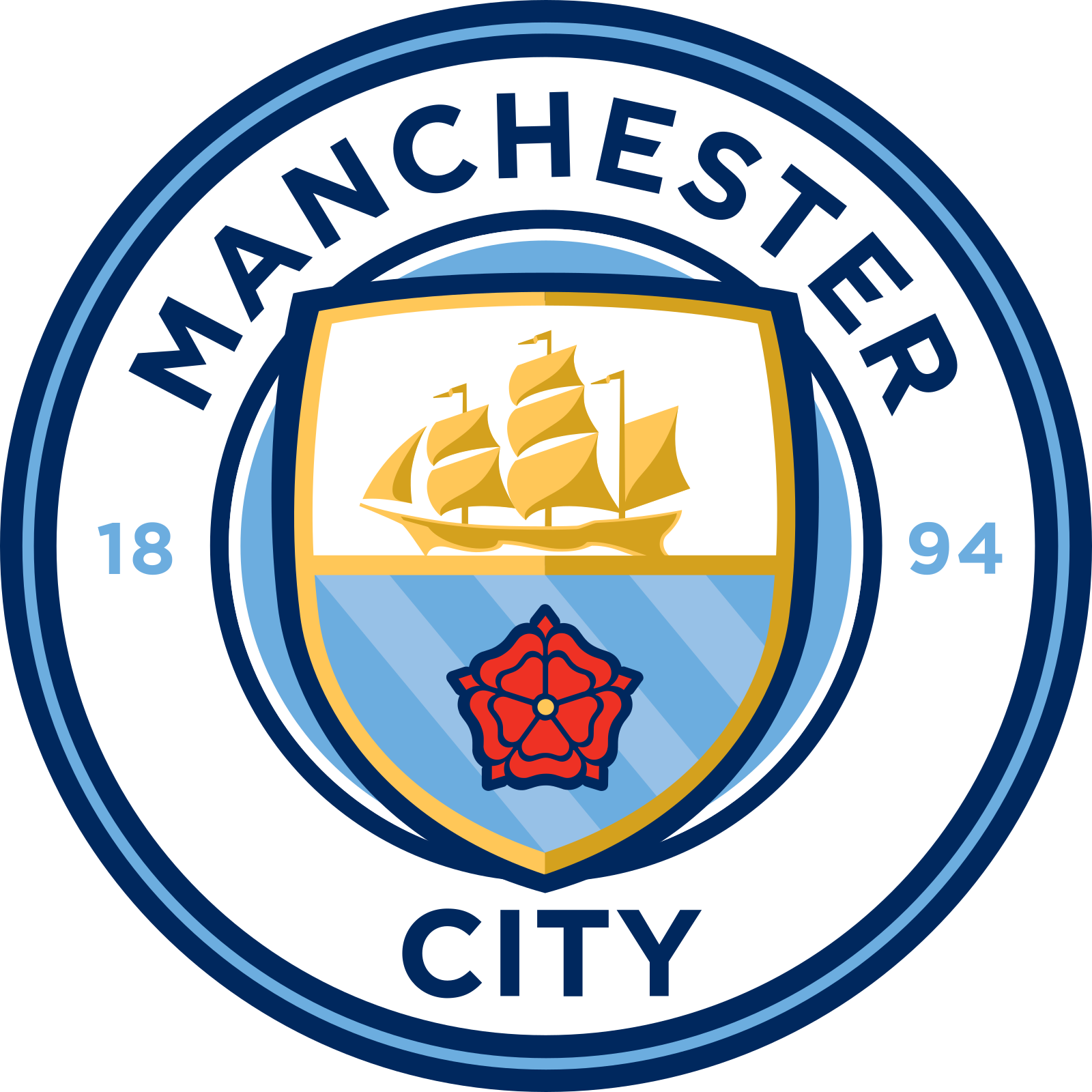 manchester city fc logo escudo badge 2 - Manchester City Logo - Manchester City Football Club Escudo