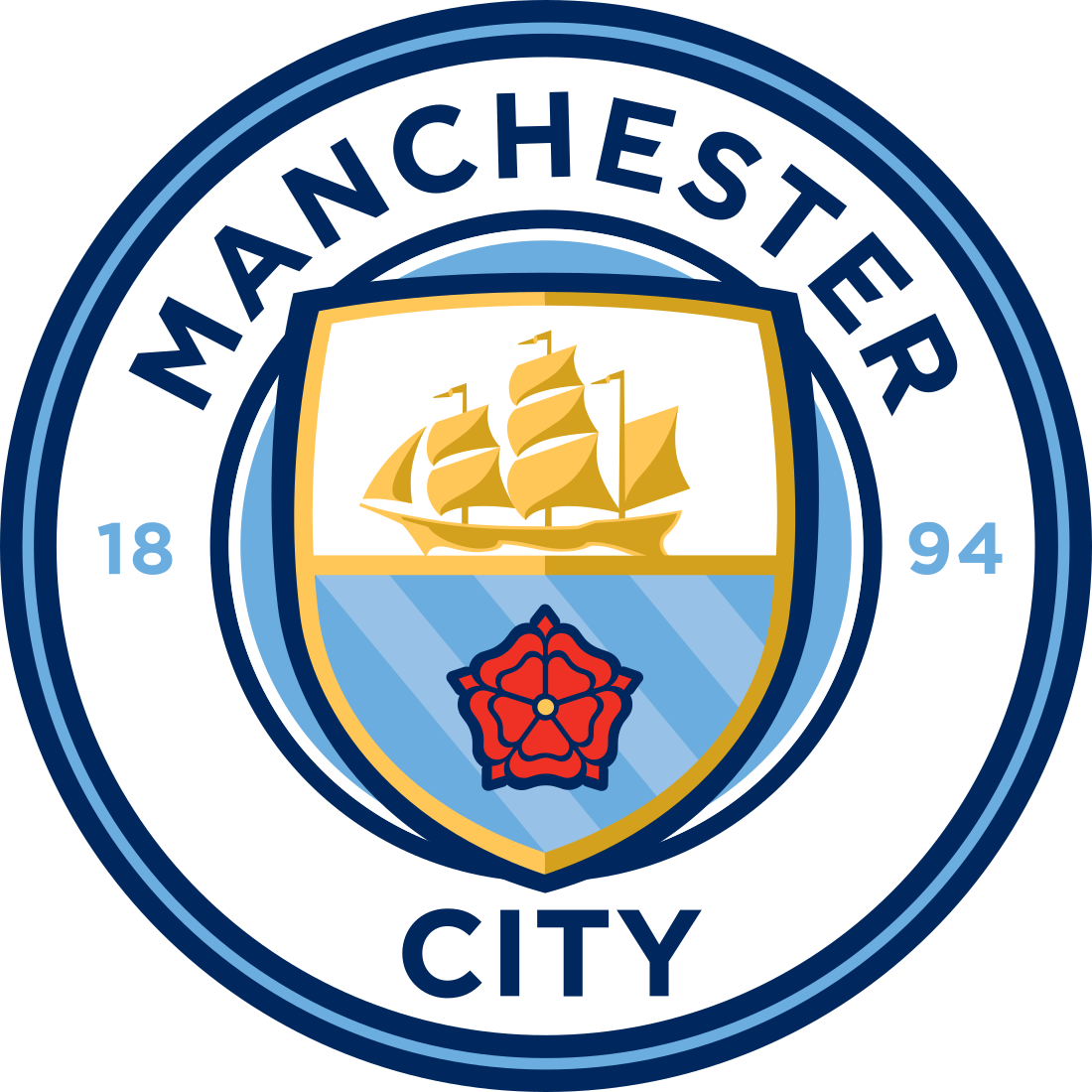 manchester city fc logo escudo badge 3 - Manchester City Logo - Manchester City Football Club Escudo