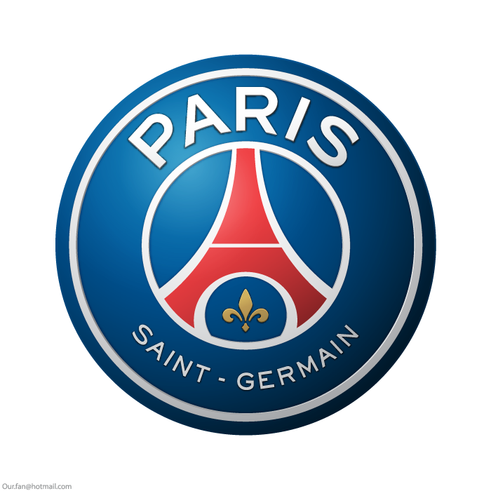 psg logo, escudo, Paris Saint-Germain .