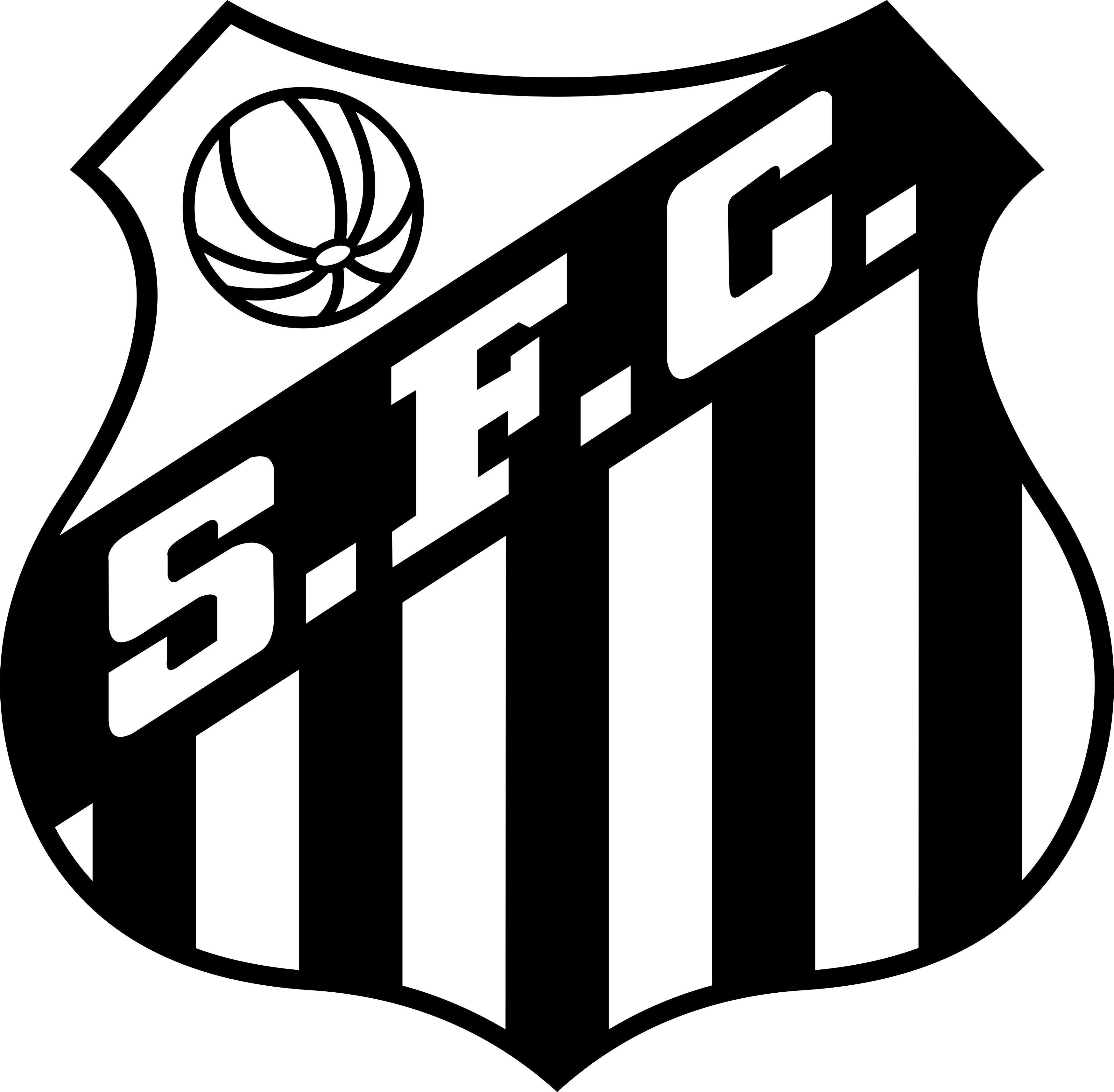 santos logo escudo 1 - Santos FC Logo