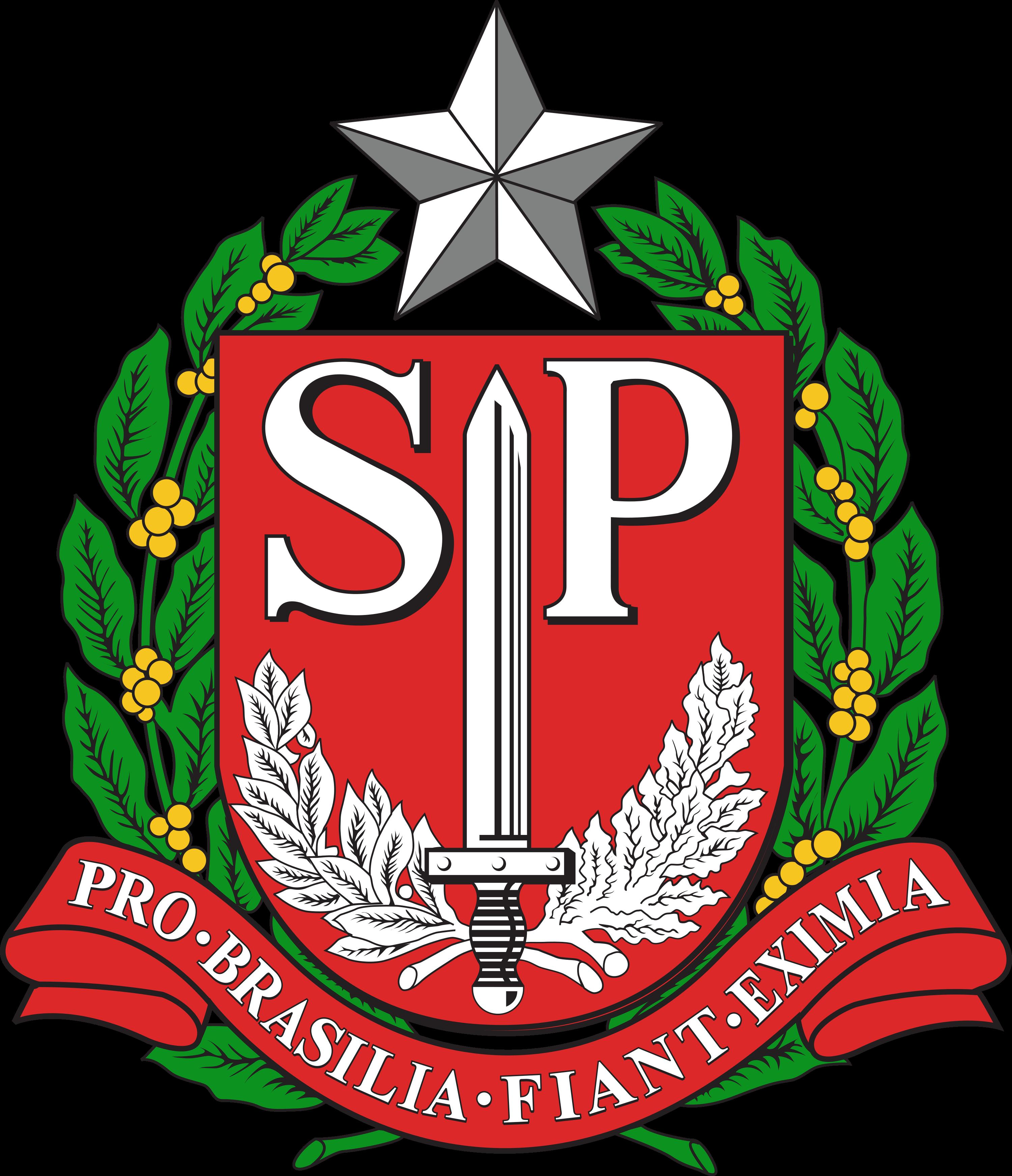 Estado de São Paulo brasão, logo.