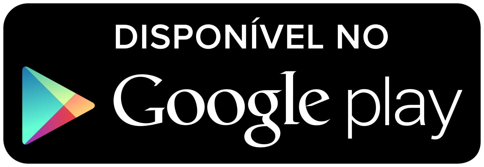 Botão Disponível no Google Play Logo.