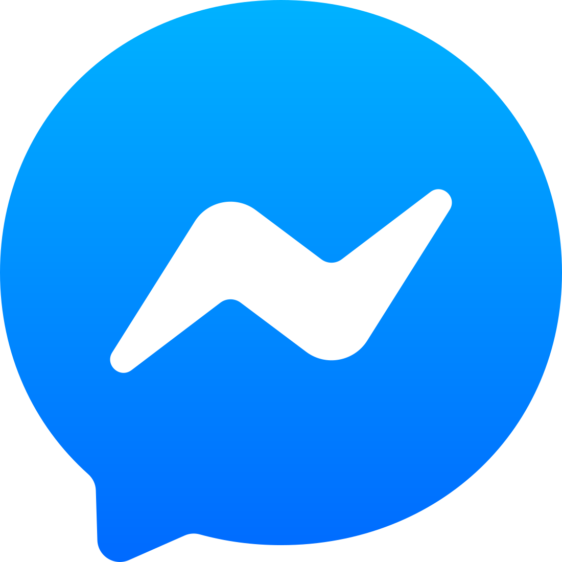 facebook messenger logo 02 - Facebook Messenger Logo