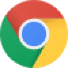 Google Chrome logo.