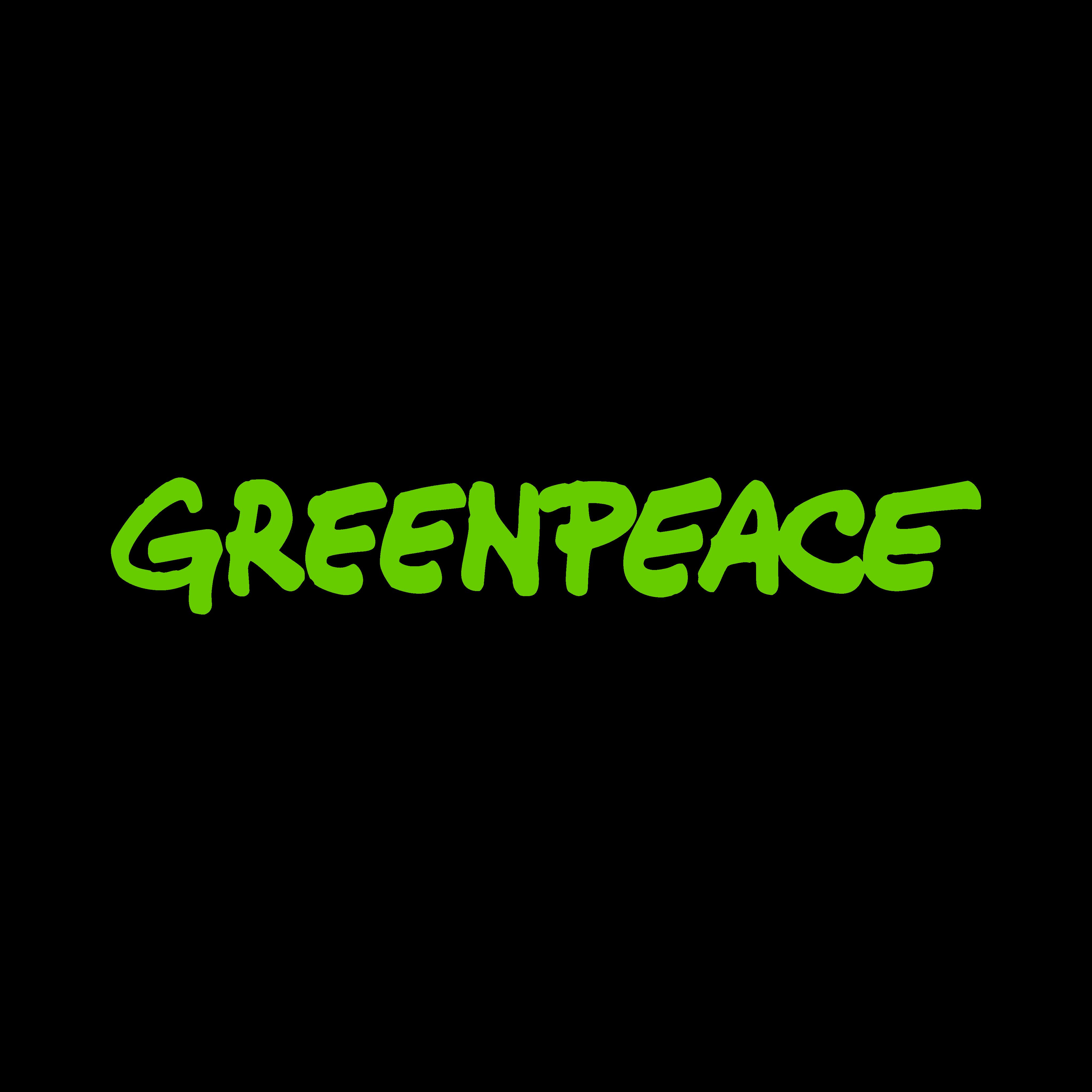 Greenpeace logo PNG.