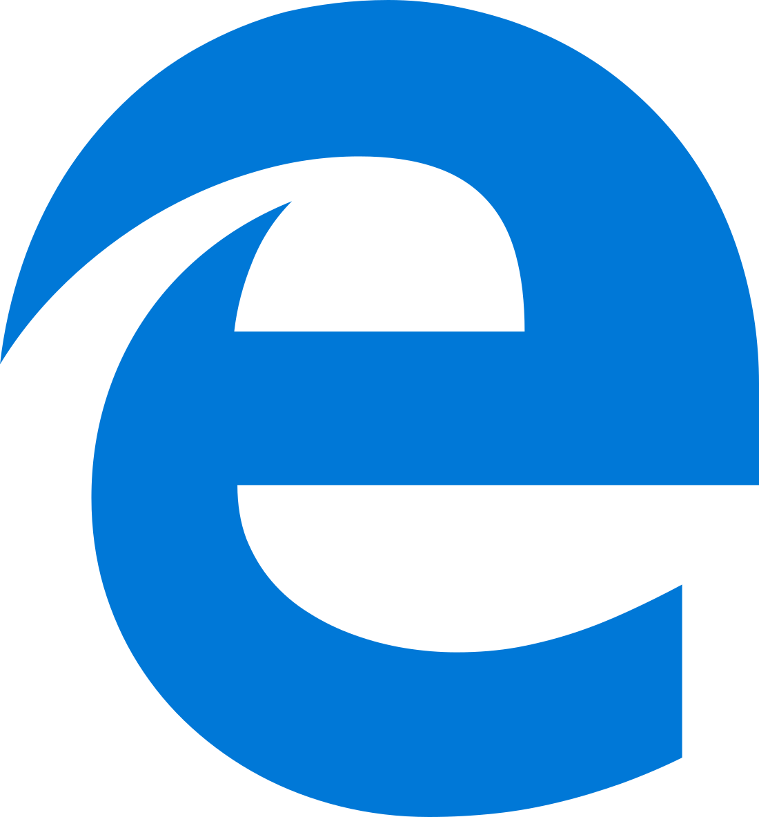 Microsoft Edge Logo.