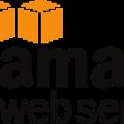 AWS, Amazon web services logo.
