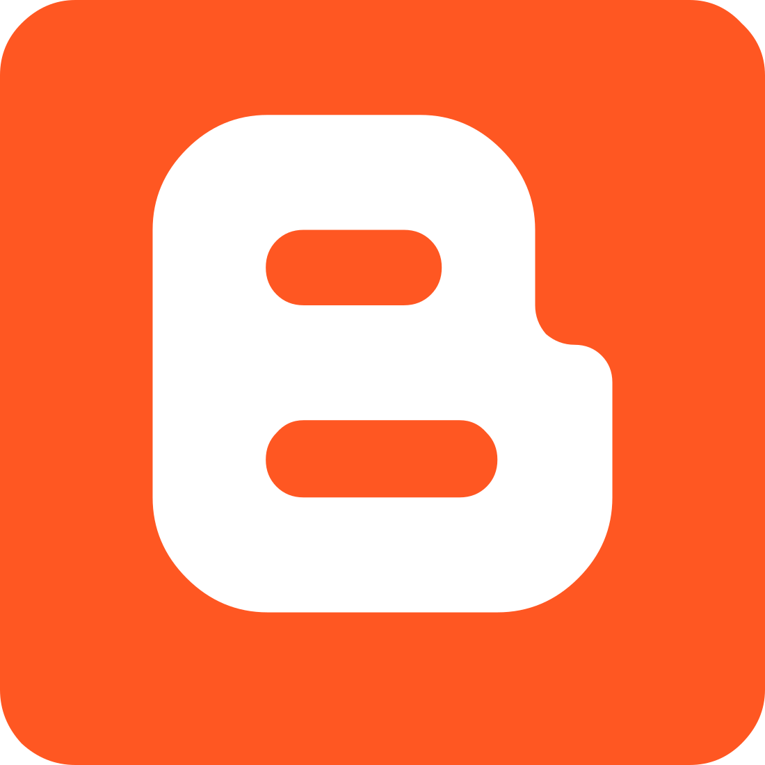 Blogger Logo, icon.