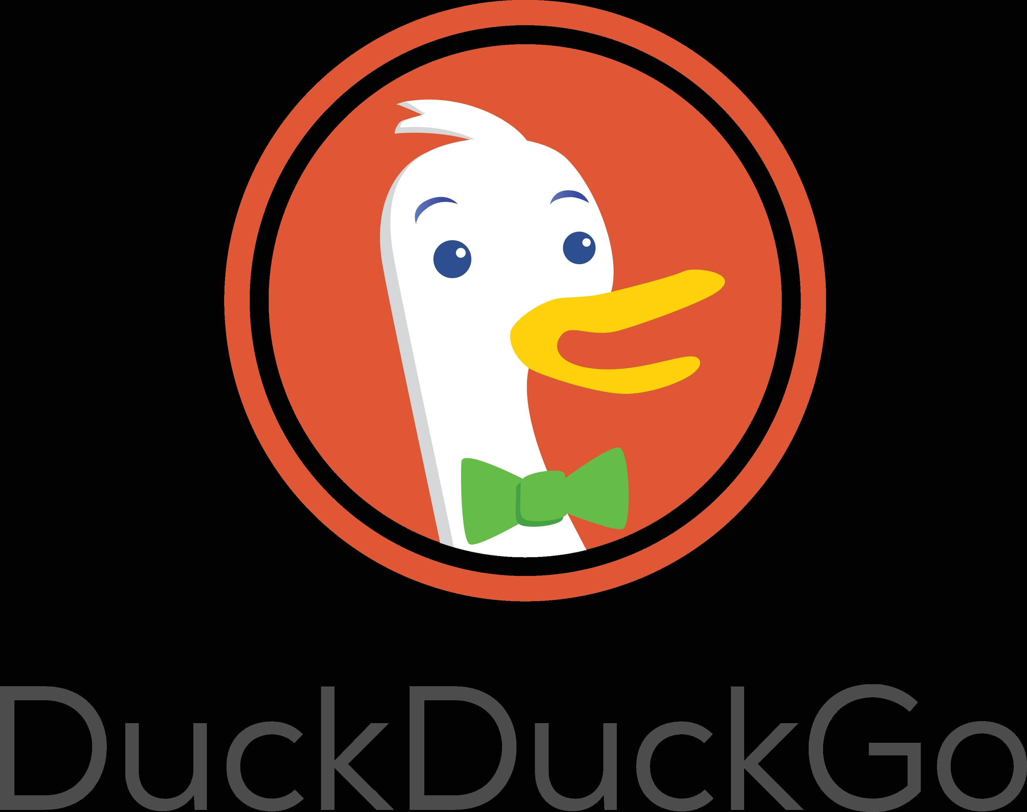 DuckDuck Go logo.