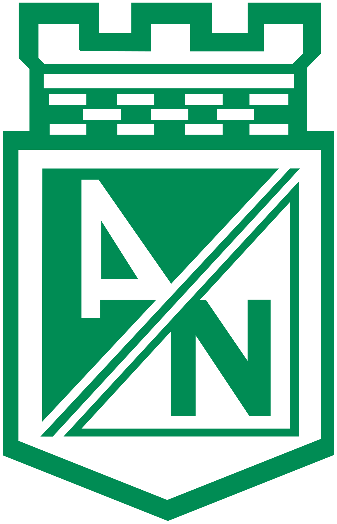 atletico nacional logo escudo 3 - Club Atlético Nacional Logo - Escudo