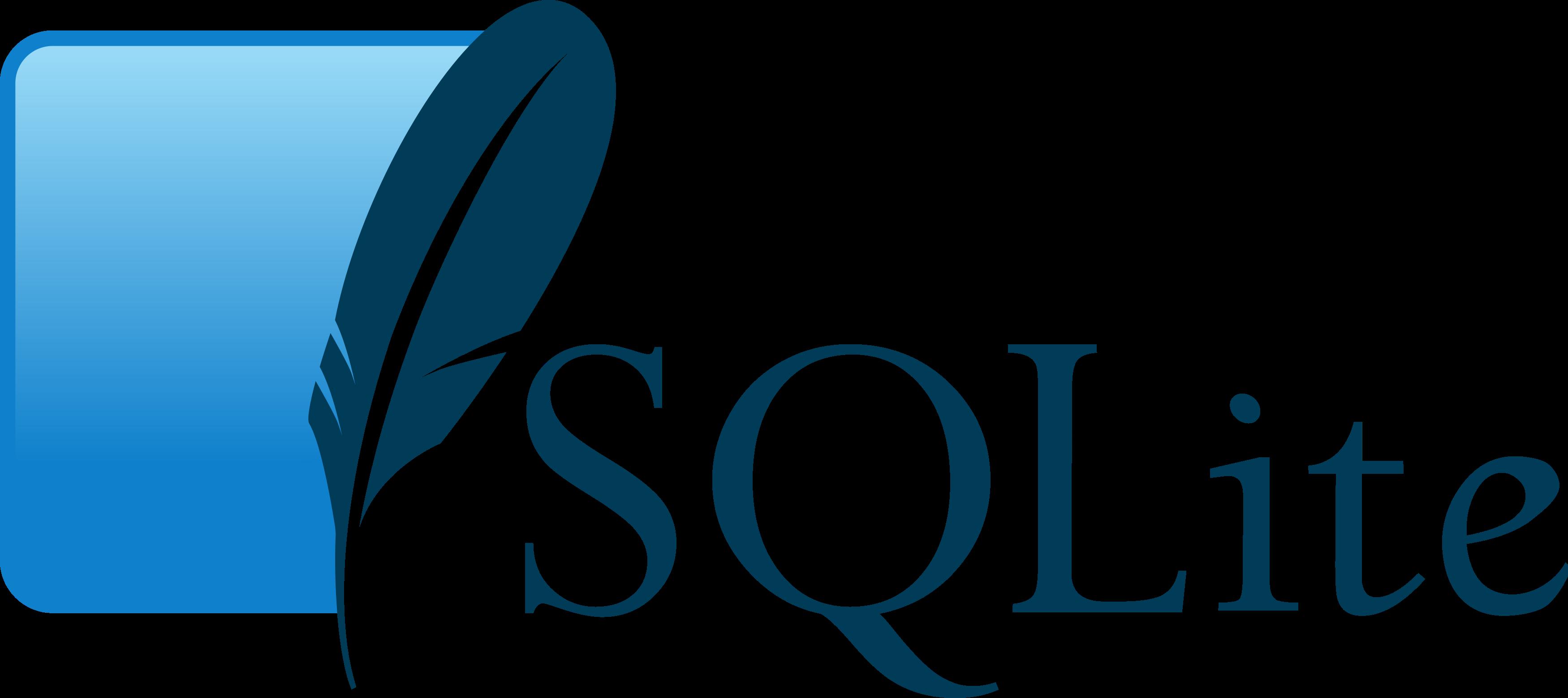SQLite logo.