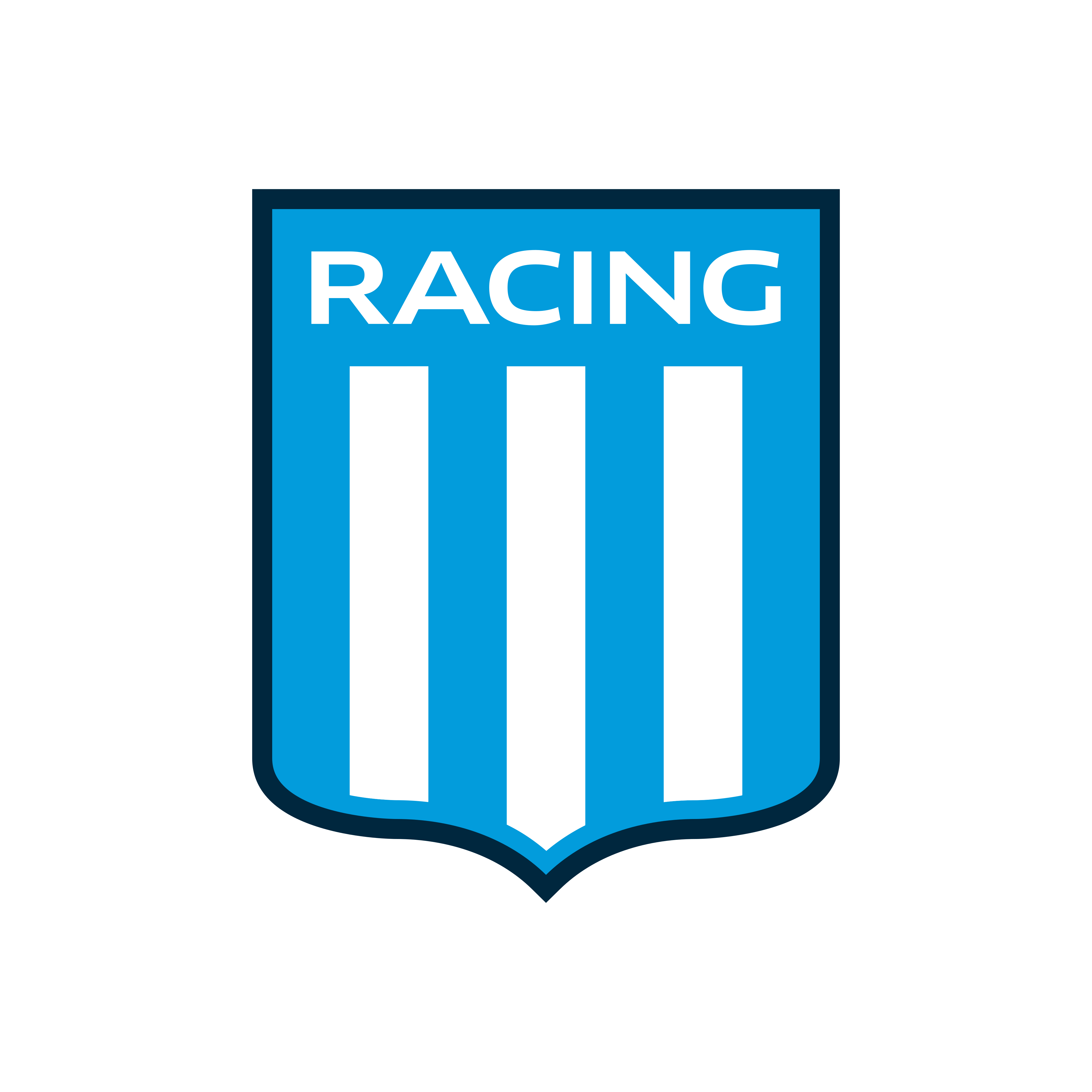 racing logo escudo 0 1 - Racing Logo - Racing Club de Avellaneda Escudo