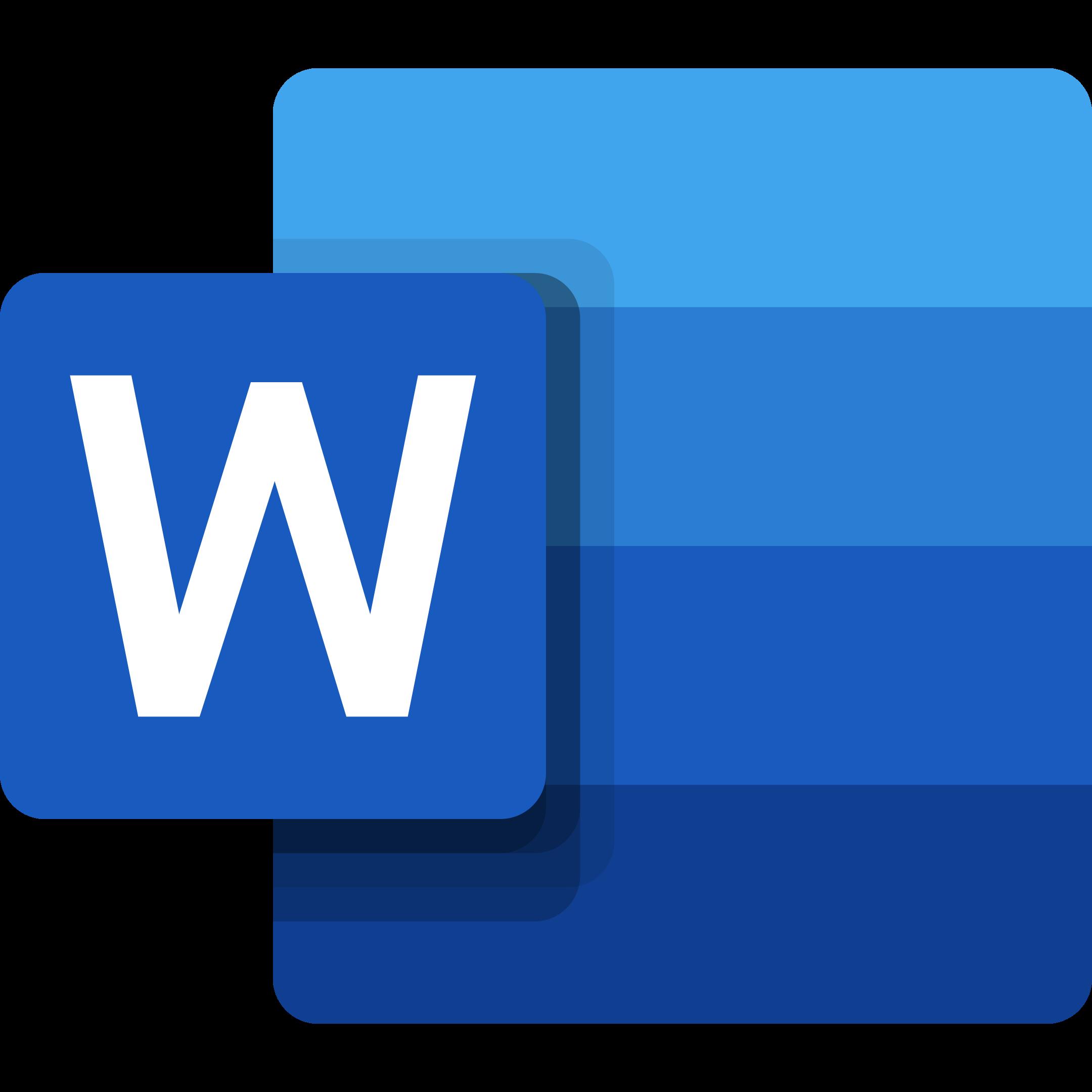word logo 1 1 - Microsoft Word Logo