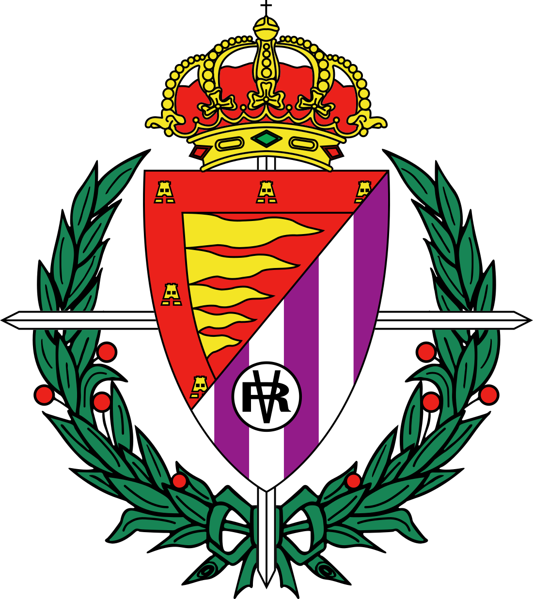 real valladolid logo escudo 3 - Real Valladolid Logo - Real Valladolid Club de Fútbol Escud
