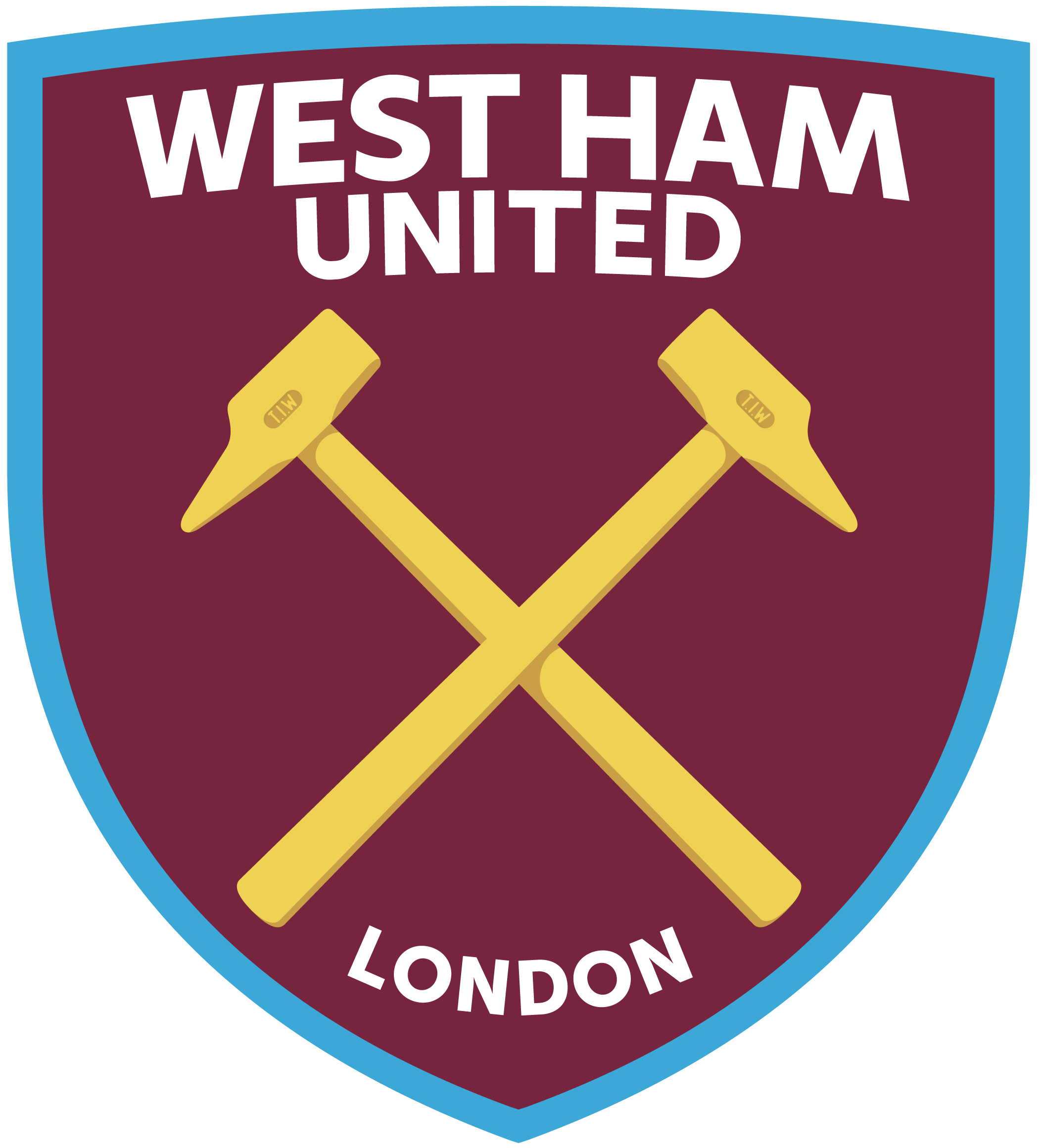 west ham united logo 1 - West Ham United FC Logo
