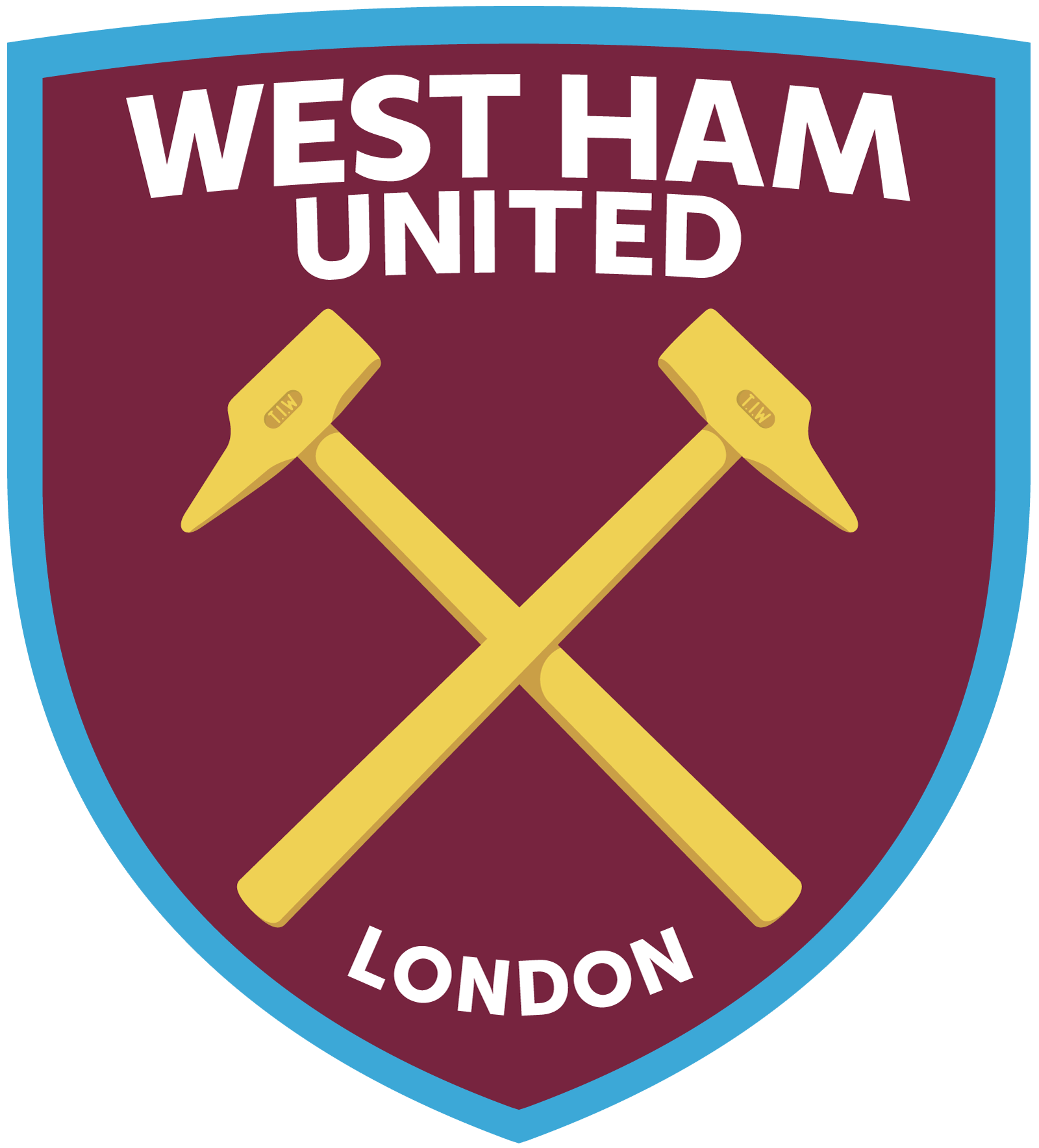 west ham united logo 2 - West Ham United FC Logo