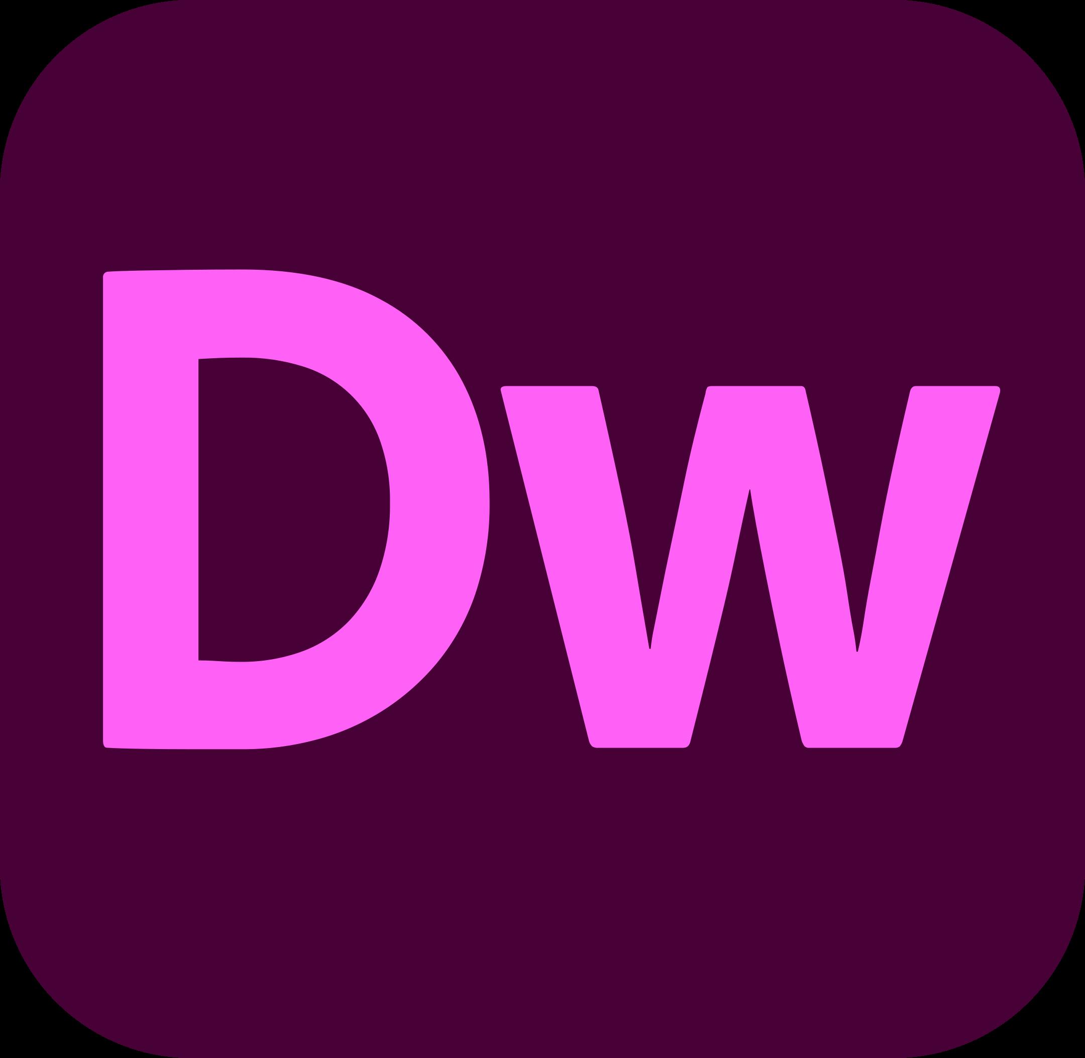 adobe dreamweaver logo 1 1 - Adobe Dreamweaver Logo