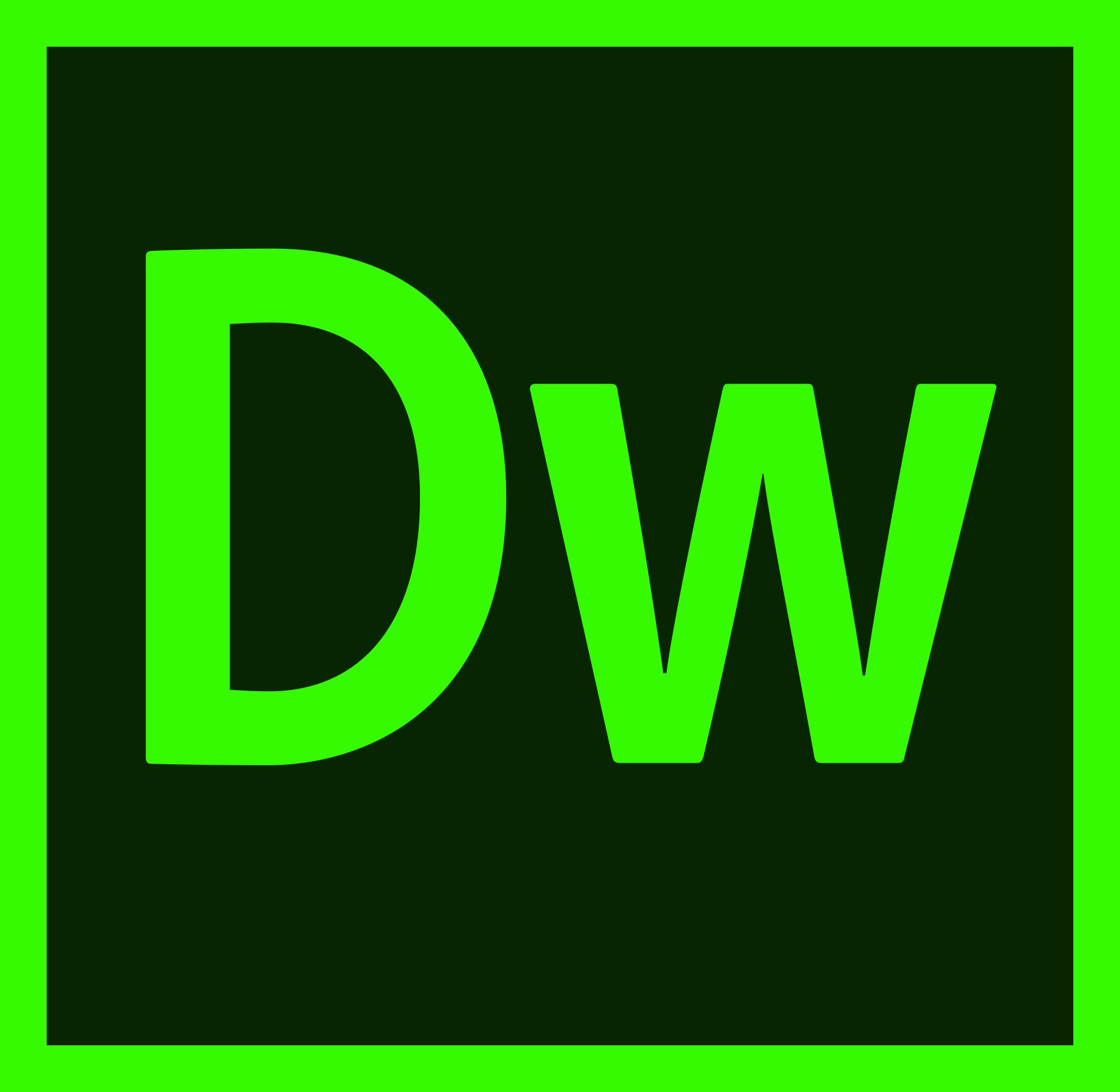 Adobe Dreamweaver Logo.