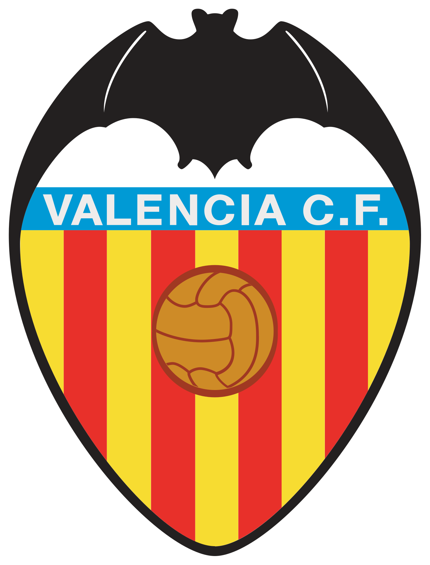 valencia cf logo escudo 2 - Valencia CF Logo - Escudo