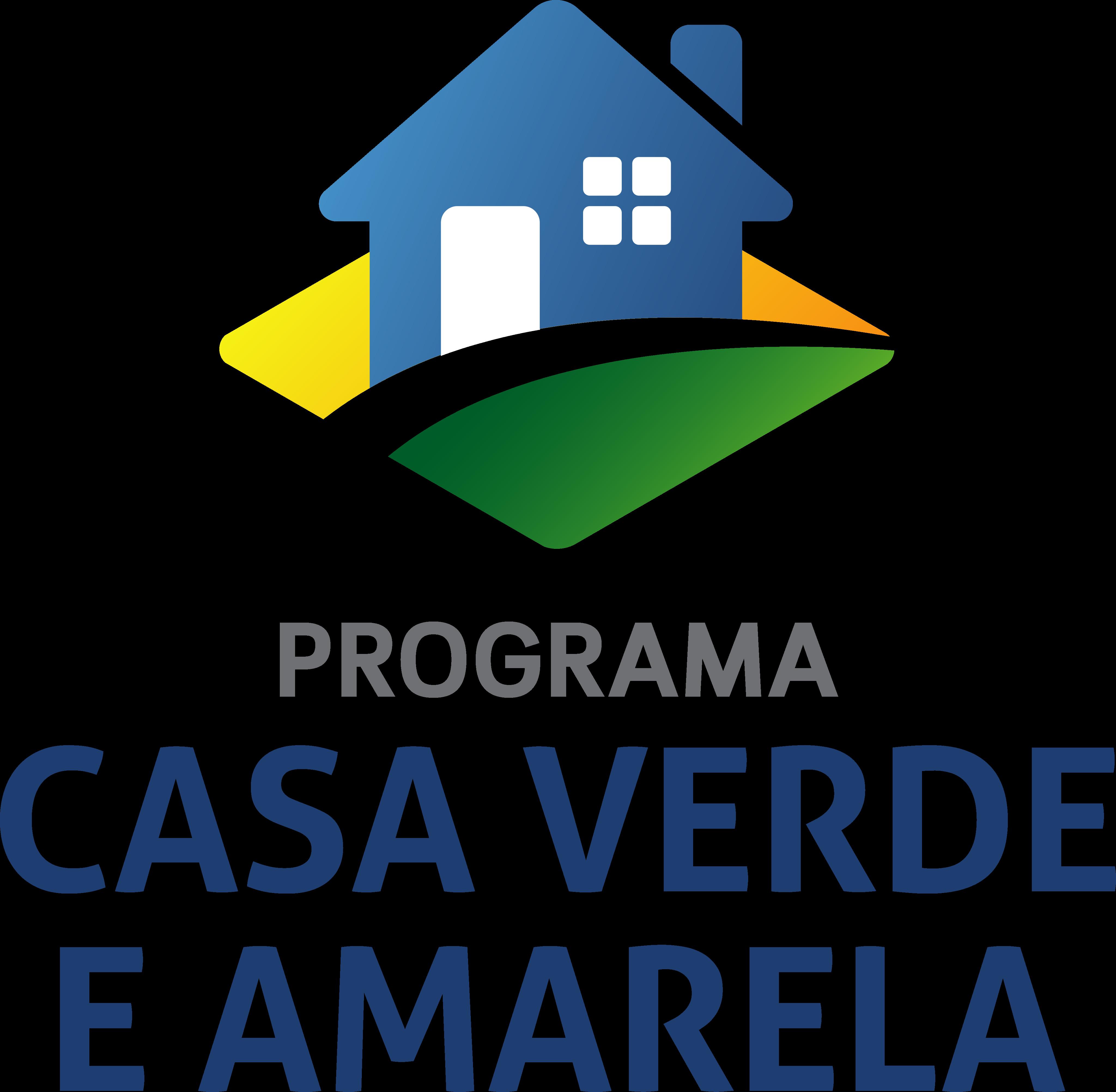casa verde e amarela logo 1 - Programa Casa Verde e Amarela Logo