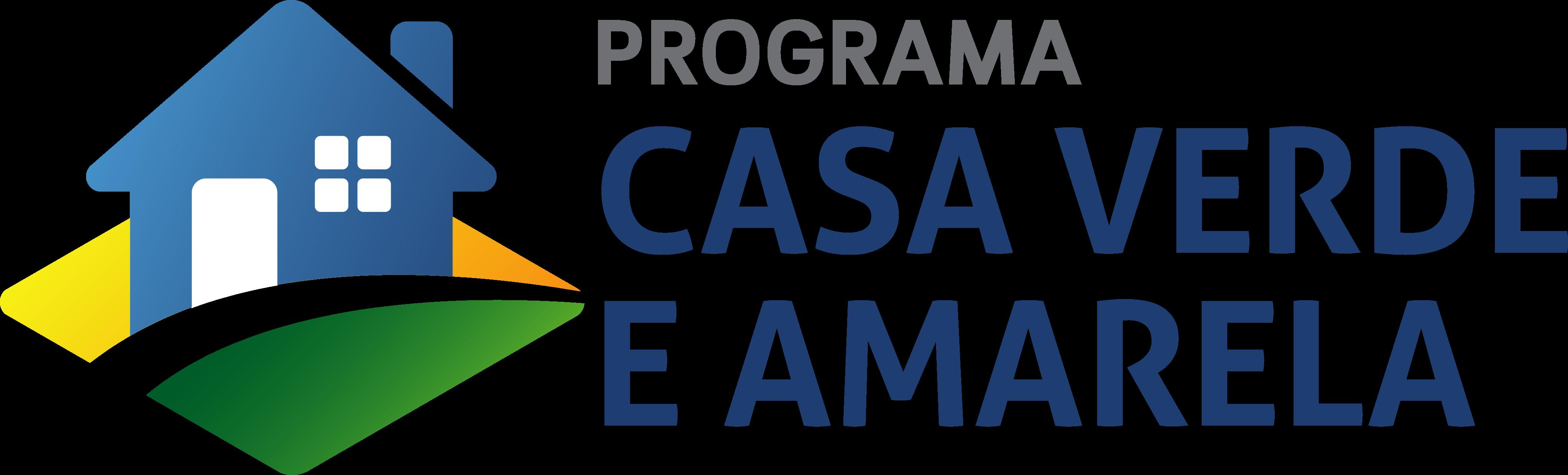 Programa Casa Verde e Amarela Logo.